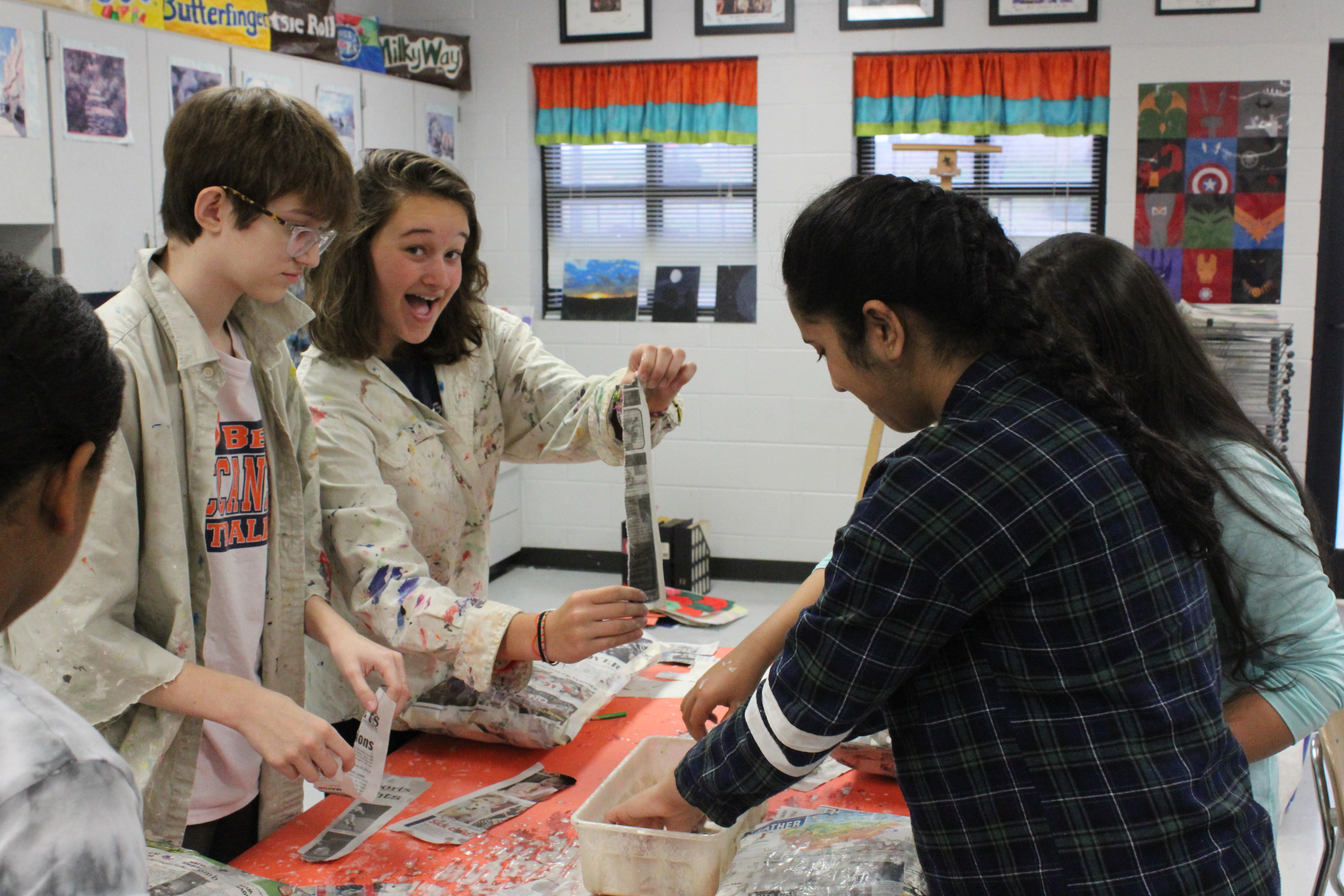Students get creative in Art class