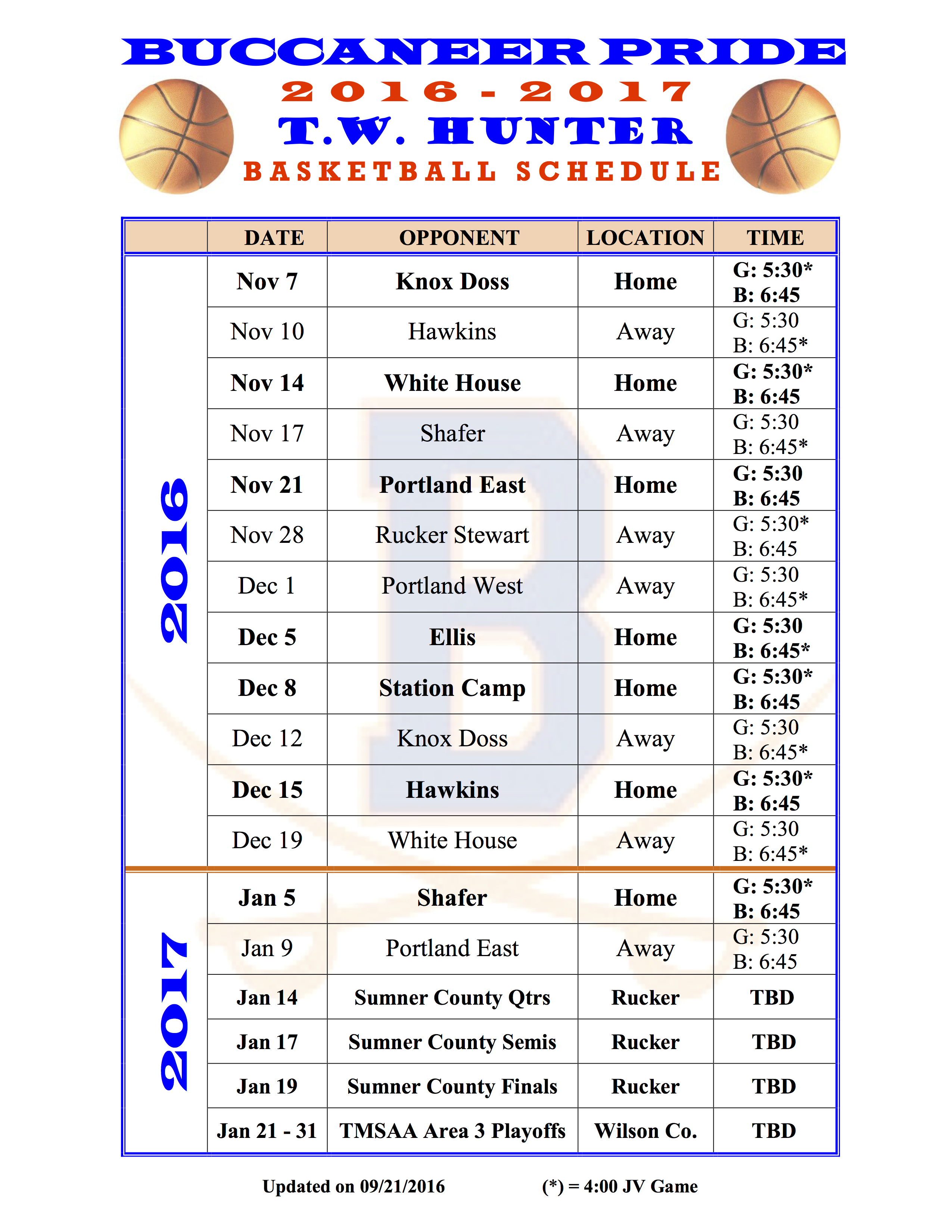 2016 2017 Basketball Schedule 1