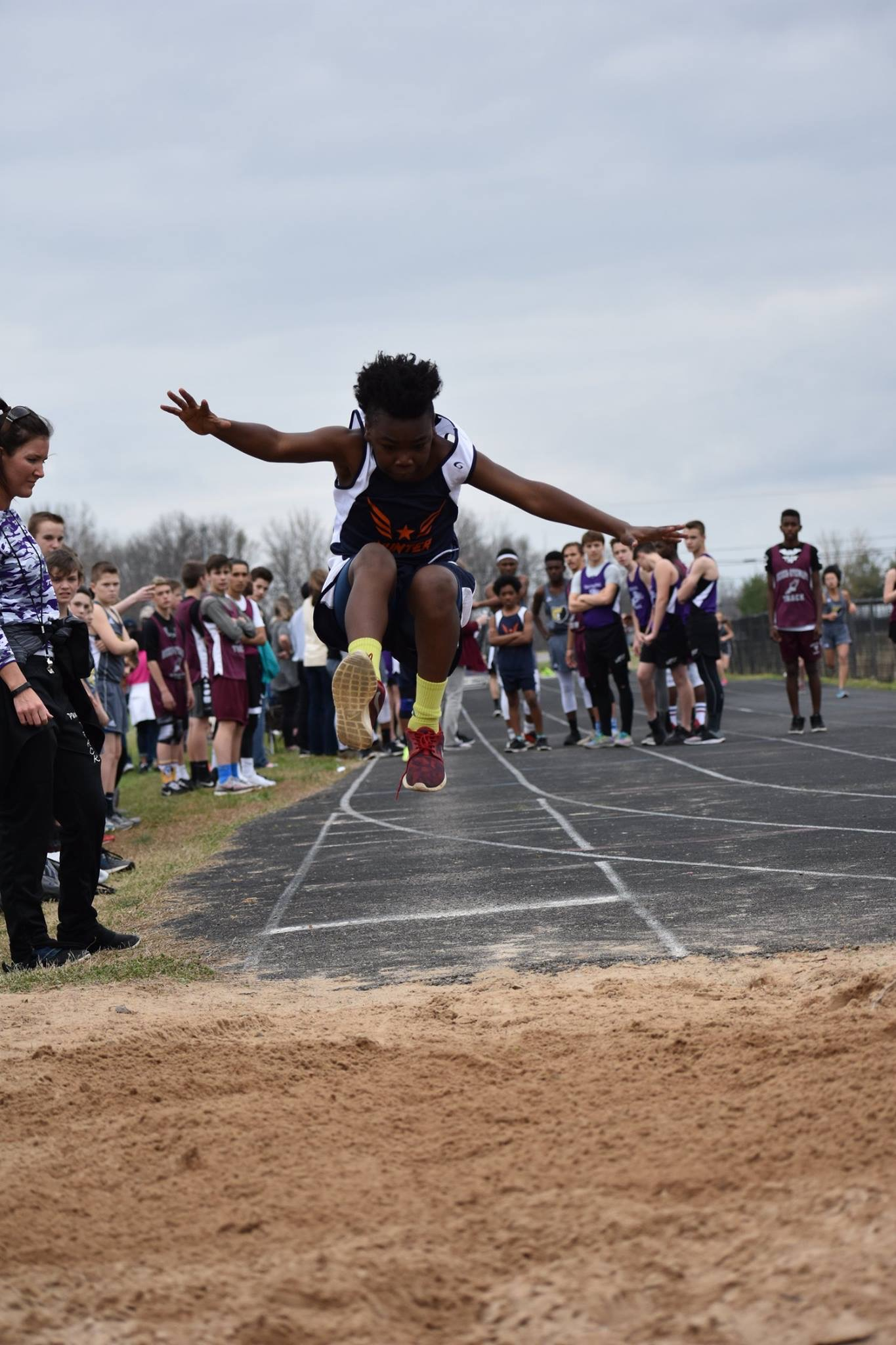 J. Carter in the Long Jump
