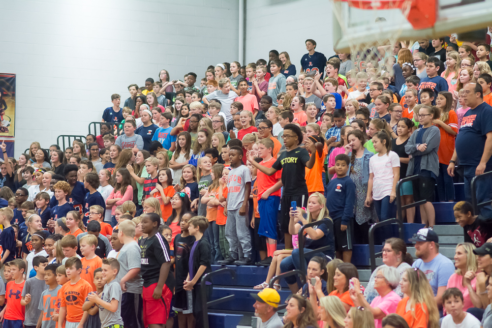 6th grade dominated the spirit scream.