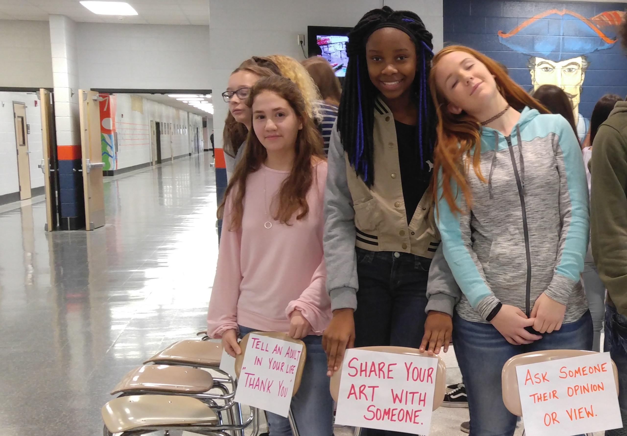 Students commit to be kind to each other