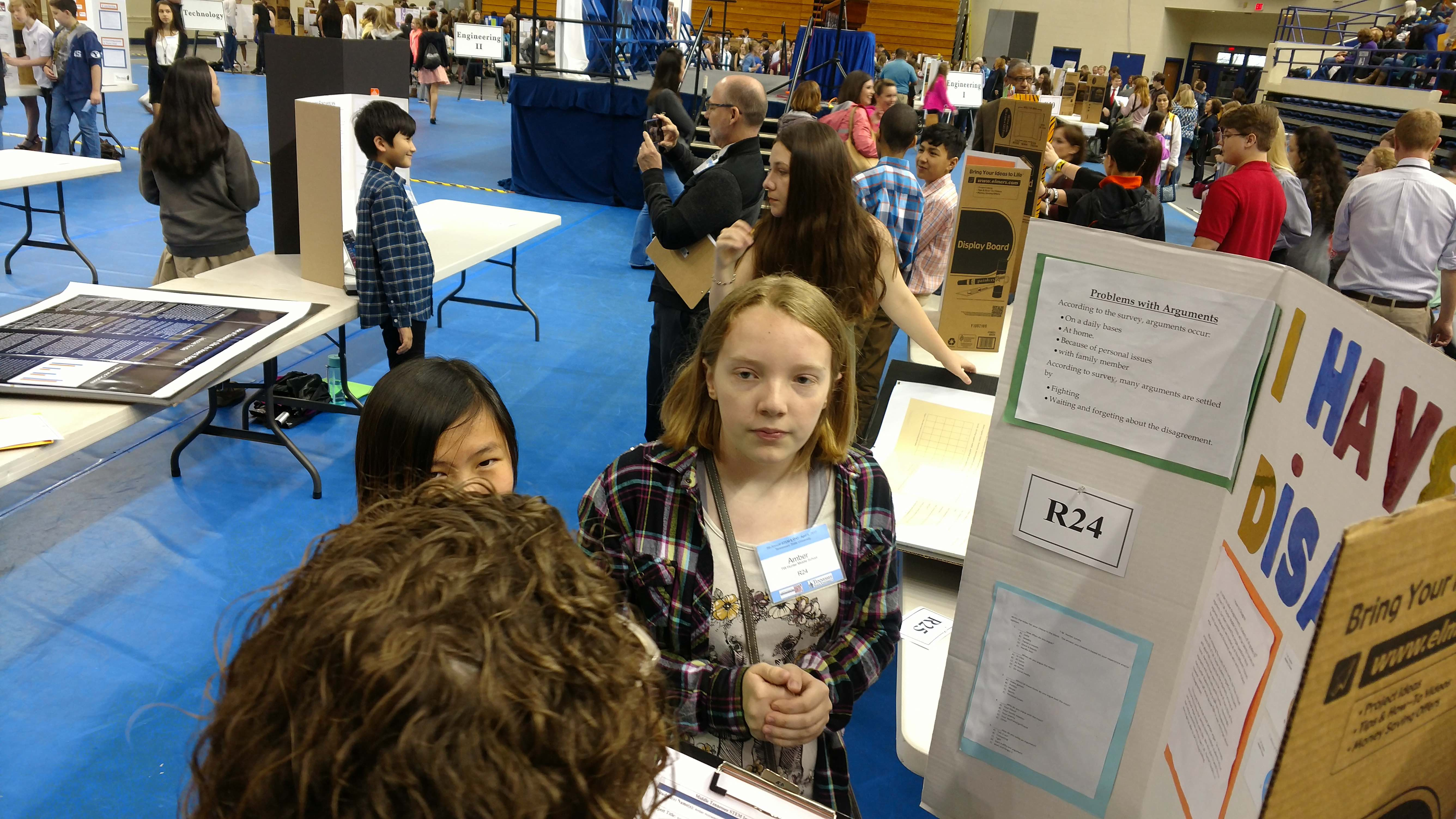 Students at STEM Expo